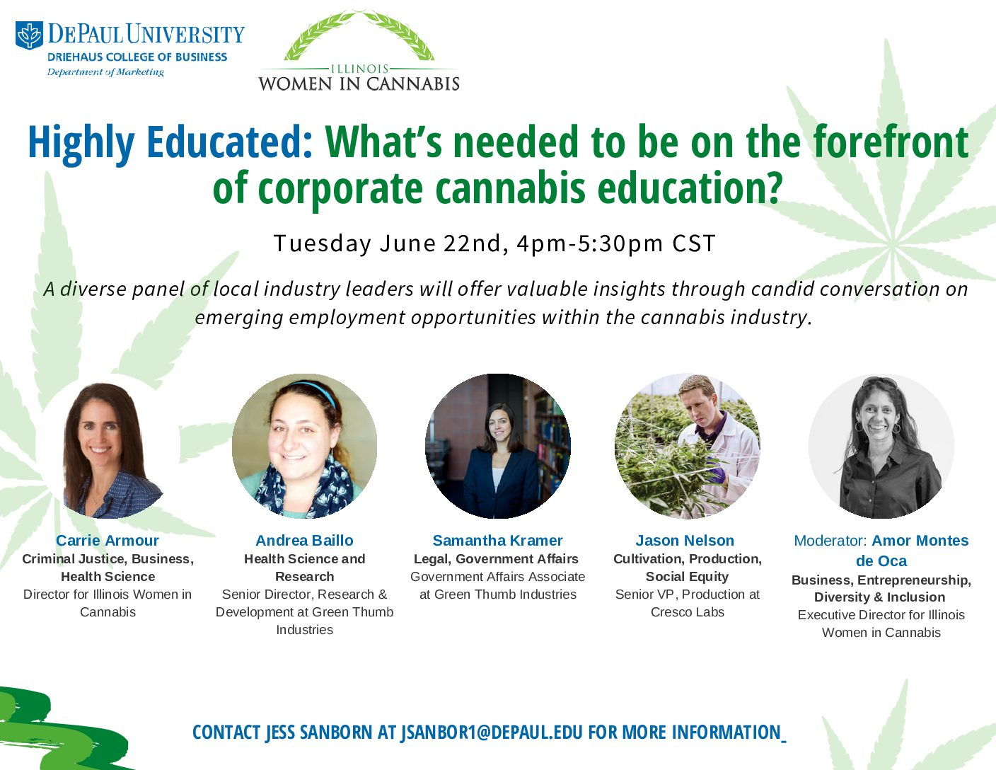 Virtual: Highly Educated: What's needed to be on the forefront of corporate cannabis education?